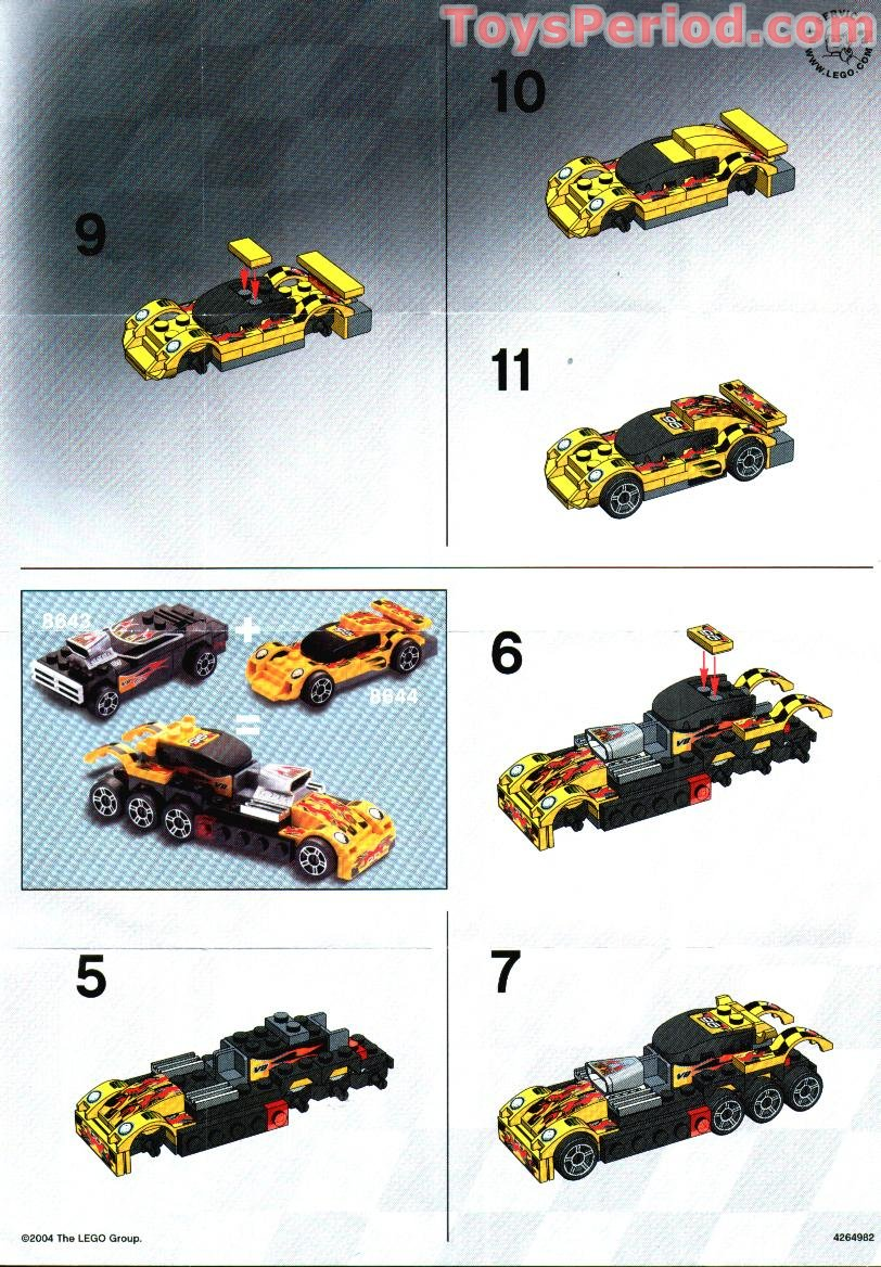 Lego 8644 Street Maniac Set Parts Inventory And