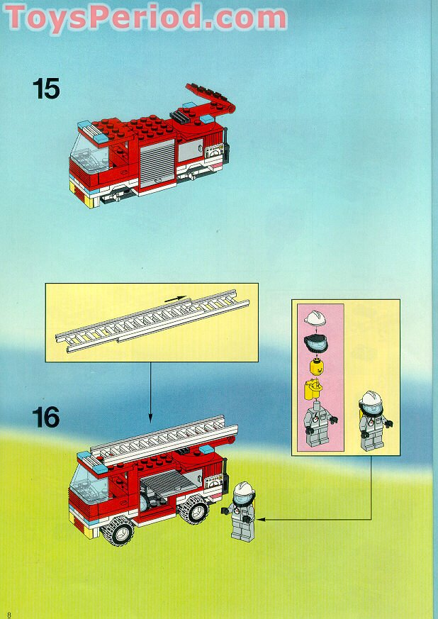 Lego 6571 Flame Fighters Set Parts Inventory And