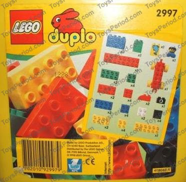 Lego 2997 Small Duplo Bucket Set Parts Inventory And Instructions