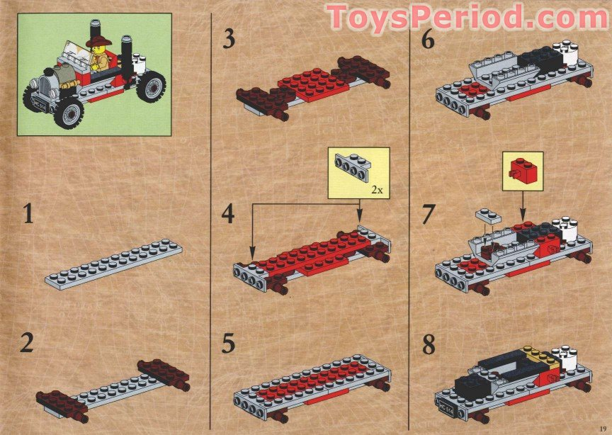 Lego 5975 T Rex Transport Set Parts Inventory And
