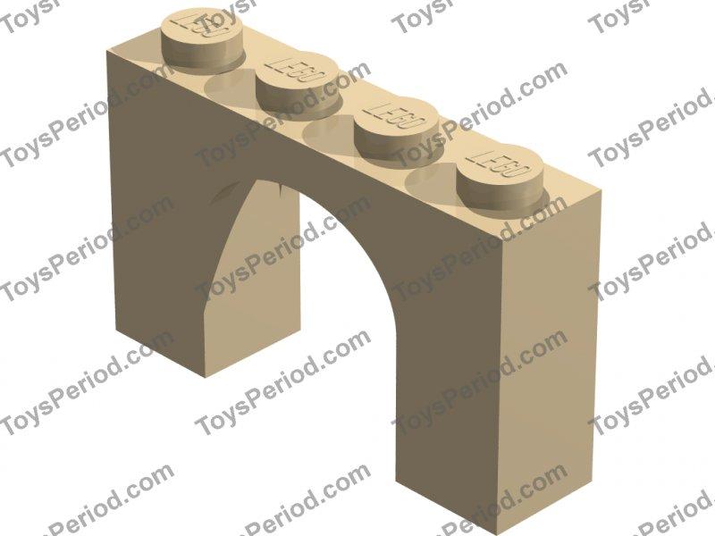 Lego NEW dark medium flesh 1 x 3 x 2 arch bricks    Lot of 10