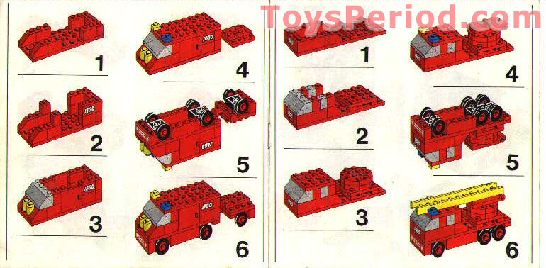 Lego 357 1 Fire Station With Vehicles Set Parts Inventory And