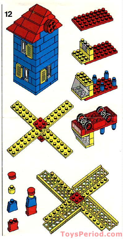Lego 362 1 Windmill Set Parts Inventory And Instructions Lego