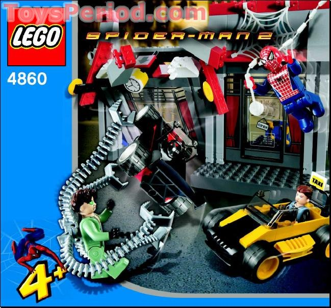 LEGO 4860 Doc Ock's Cafe Attack Set Parts Inventory and Instructions ...
