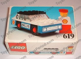 Precut Custom Replacement Stickers for LEGO Set 619-Rally Car 1977