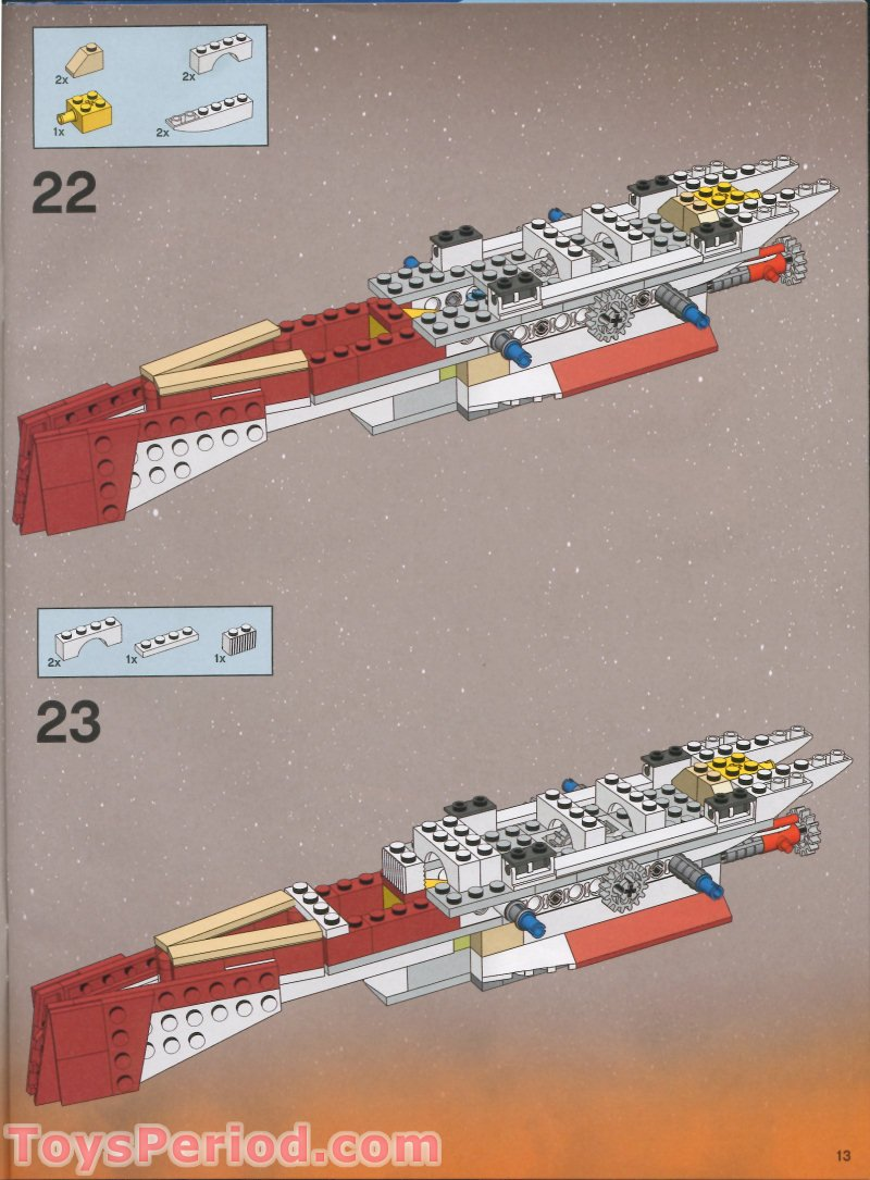 LEGO 7259 Arc-170 Starfighter Set Parts Inventory and