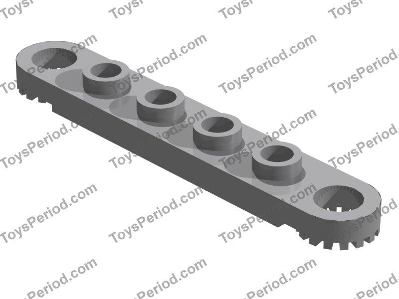 4 Stück Platte // Plate 2 x 6 mit 5 Löchern LEGO Technic schwarz # 32001