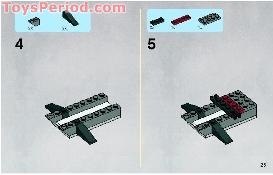 lego mini vulture droid instructions