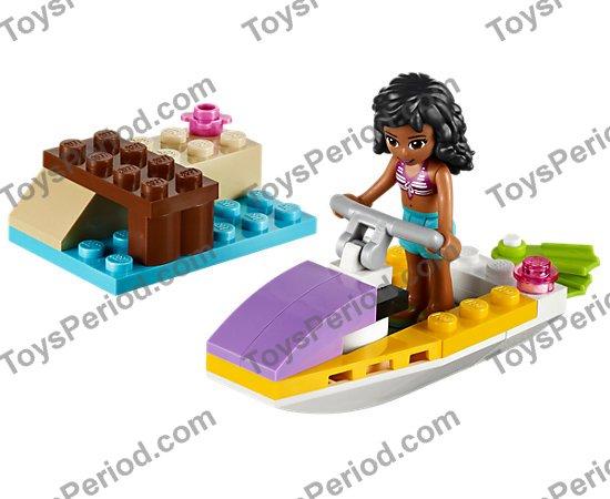 Utensil Surfboard Long NEW Friends sports ocean LEGO x 4 Magenta Minifig