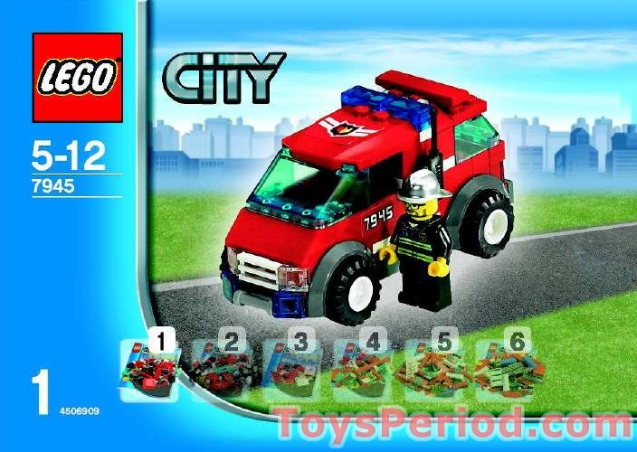Lego 7945 Fire Station Set Parts Inventory And Instructions Lego