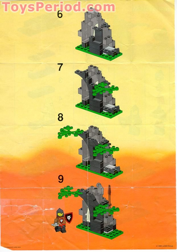 Lego 1596 Ghostly Hideout Set Parts Inventory And Instructions