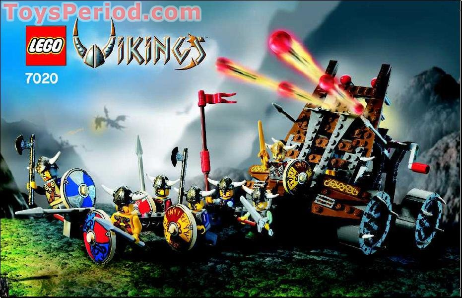 LEGO 7020 Army of Vikings with Heavy Artillery Wagon Set Parts ...