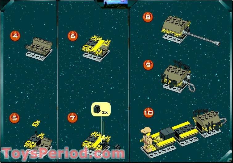 LEGO STAR WARS Hinge Bricks 30364 OldDkGray /& 30365 OldGray Set 7140 7142 ....