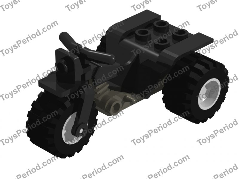 LEGO 4 x Trike Gestell schwarz Black Tricycle Body Top Chassis 30187a