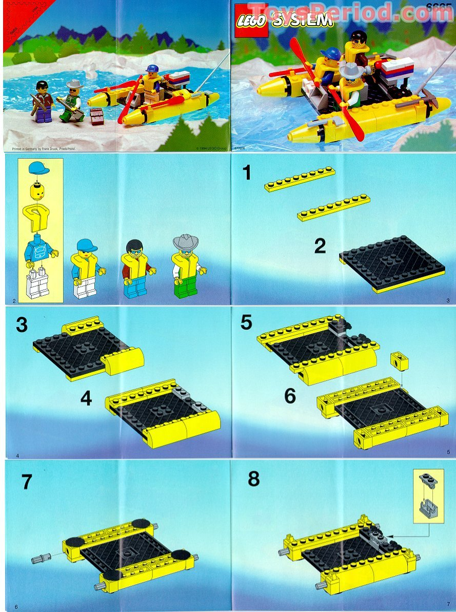 lego 6665 river runners set parts inventory and. Black Bedroom Furniture Sets. Home Design Ideas