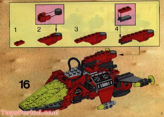 Set 6923 6862 LEGO Brick Red 2 x 4 x 2 with Studs on Sides Ref 2434