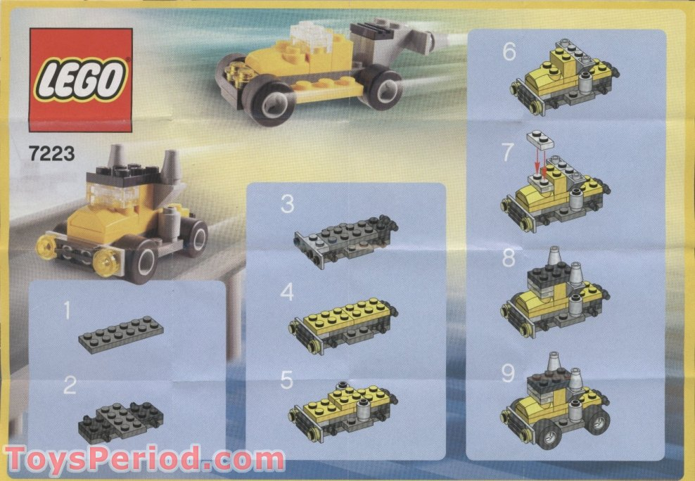 lego yellow truck instructions