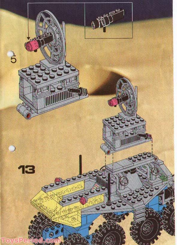Lego 6950 Mobile Rocket Transport Set Parts Inventory And