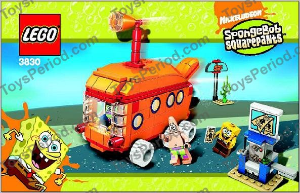 Lego 3830 Bikini Bottom Express Set Parts Inventory And Instructions Lego Reference Guide