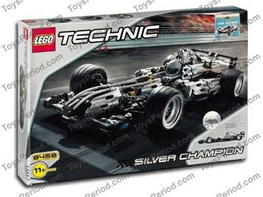 lego 8458 silver champion racer set parts inventory and. Black Bedroom Furniture Sets. Home Design Ideas