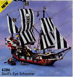 LEGO 6286 Skull's Eye Schooner Set Parts Inventory and Instructions