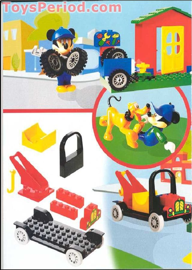 Lego 4166 Mickey S Car Garage Set Parts Inventory And