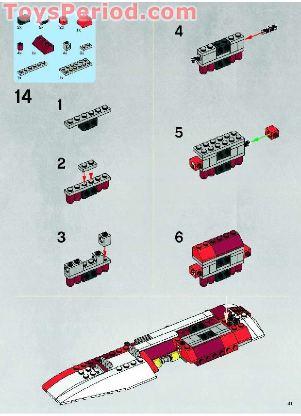 Lego 7679 Republic Fighter Tank Set Parts Inventory And
