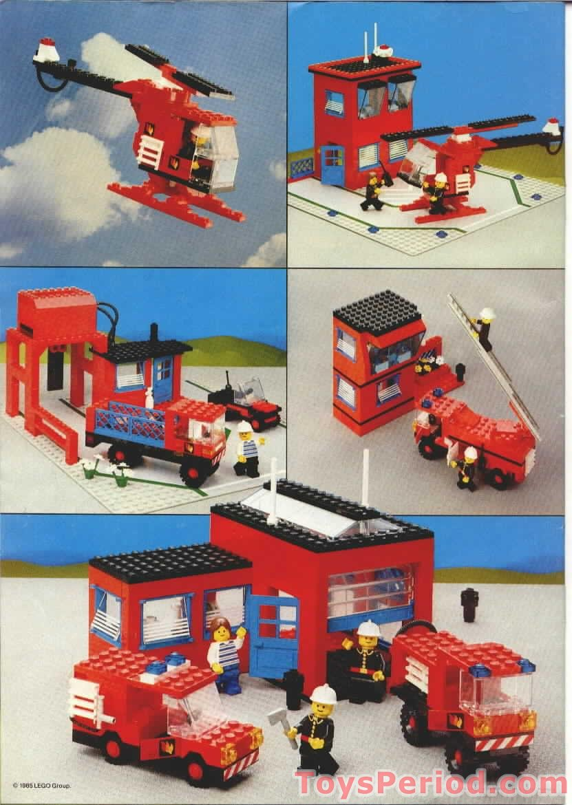 Lego 6385 Fire House I Set Parts Inventory And Instructions Lego