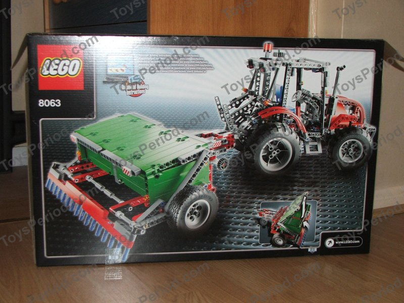 Lego Tractor Trailer : Lego tractor with trailer set parts inventory and