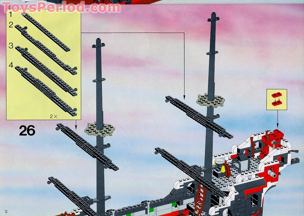 lego 6286 skull s eye schooner set parts inventory and instructions   lego reference guide