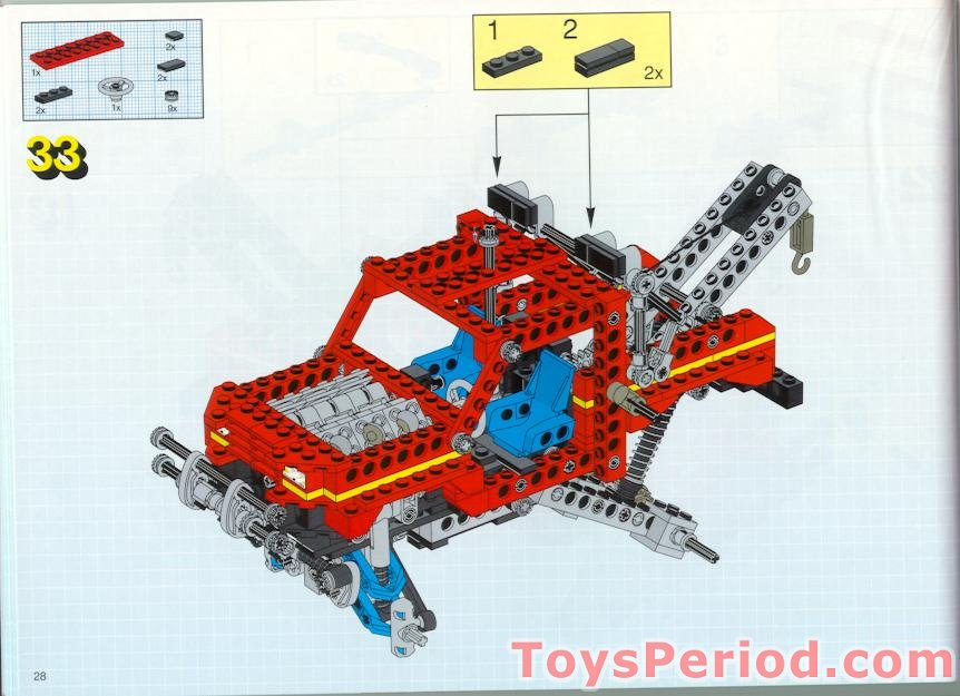Missing Lego Brick 2854 OldGray x 2 Technic Engine Crankshaft Centre
