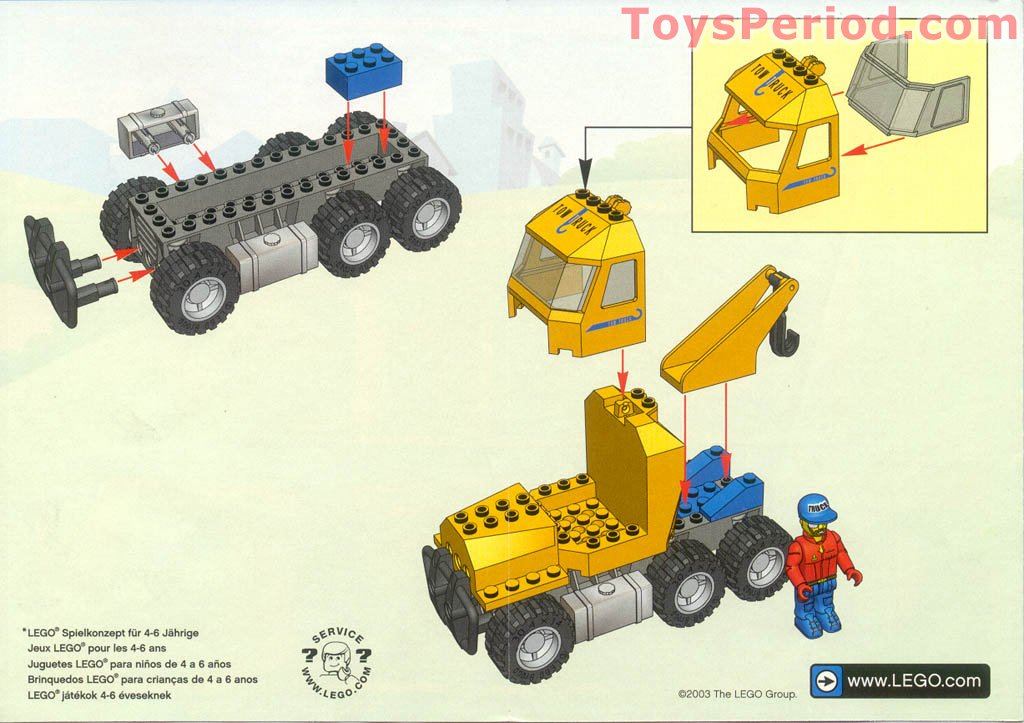 Lego 4652 Tow Truck Set Parts Inventory And Instructions