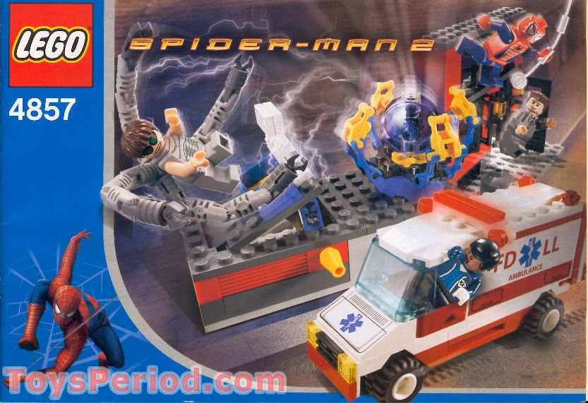 Lego 4857 doc ock 39 s fusion lab set parts inventory and - Lego spiderman 3 ...