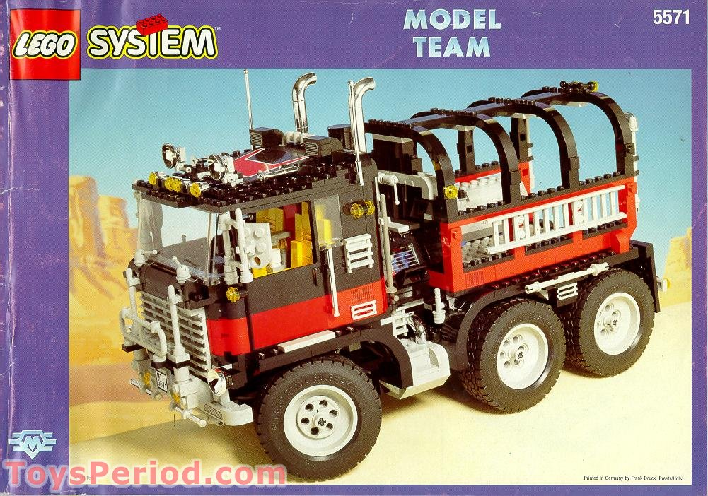 Lego 5571 Giant Truck Black Cat Set Parts Inventory And