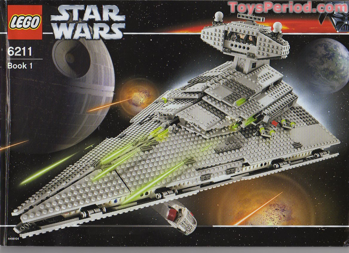 Lego 6211 imperial star destroyer set parts inventory and - Lego star wars 1 2 3 4 5 6 ...