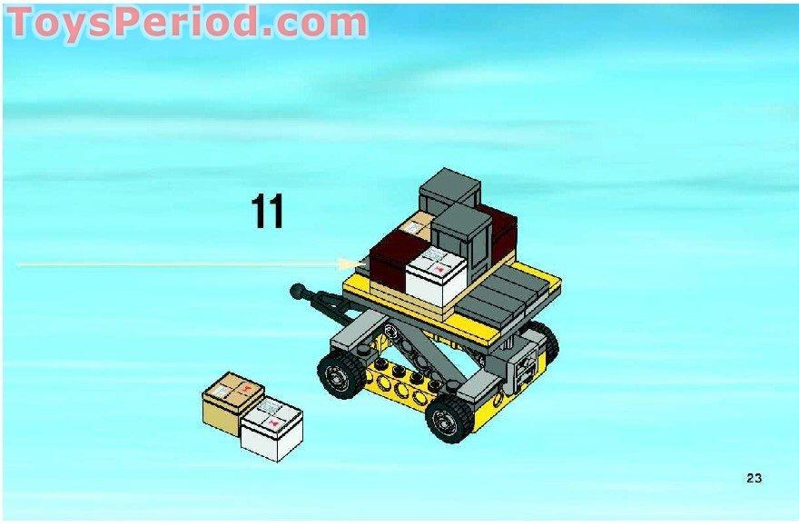how to build a lego cargo plane