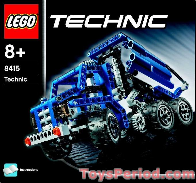Lego 8415 Dump Truck Set Parts Inventory And Instructions Lego