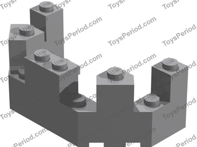 Toy Lego  castle bricks 4 black turrets