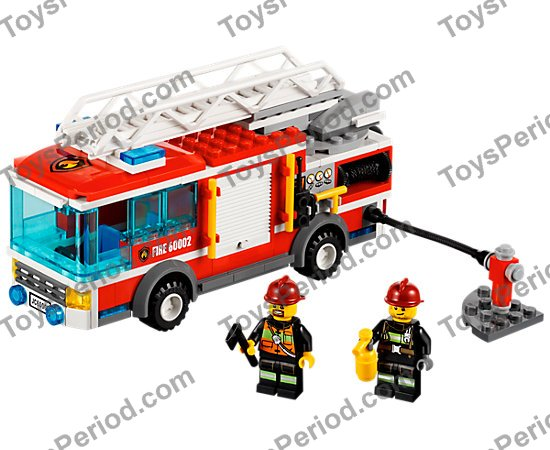 Lego 60002 Fire Truck Set Parts Inventory And Instructions Lego