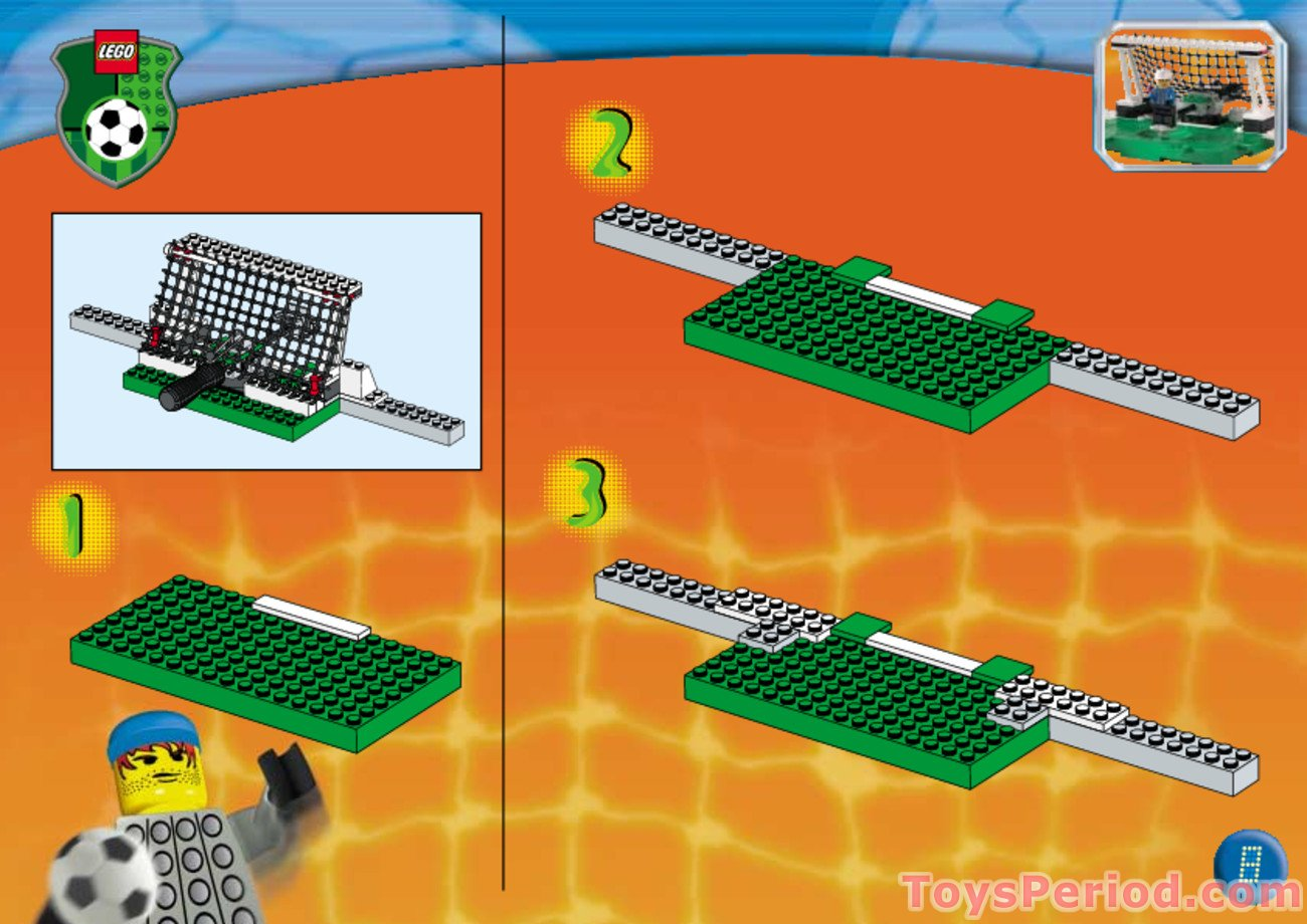 lego soccer set 3409 instructions