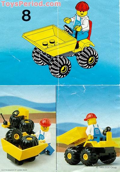 LEGO 6507 Mini Dumper Set Parts Inventory and Instructions