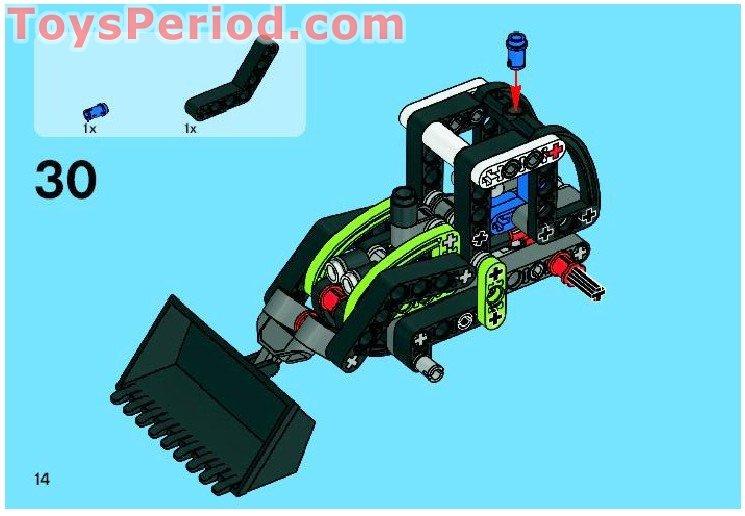 LEGO 56898 Black Tire 43.2 x 14 Offset Tread
