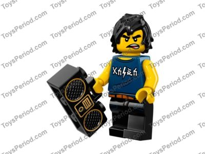 Black Minifig Part over Front Shoulder w// Red Bandana LEGO Hair Female