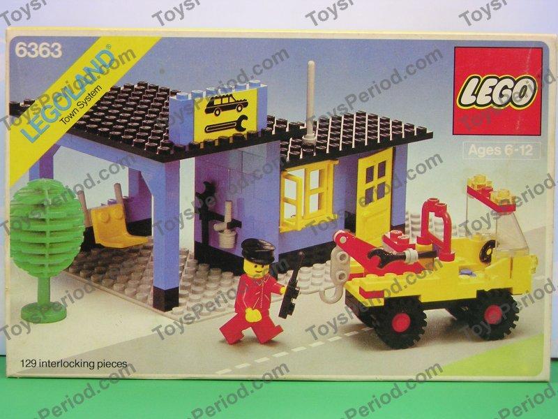 Lego 6363 Auto Repair Shop Town Car Service Station 1980