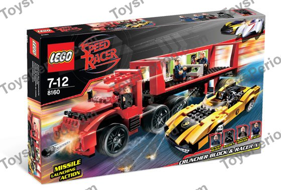 lego 8160 cruncher block and racer x set parts inventory and