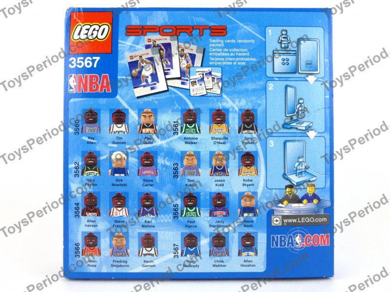 This Image of LEGO 3567 NBA Collectors Basketball Minifigure Set No. 8 ... Nba
