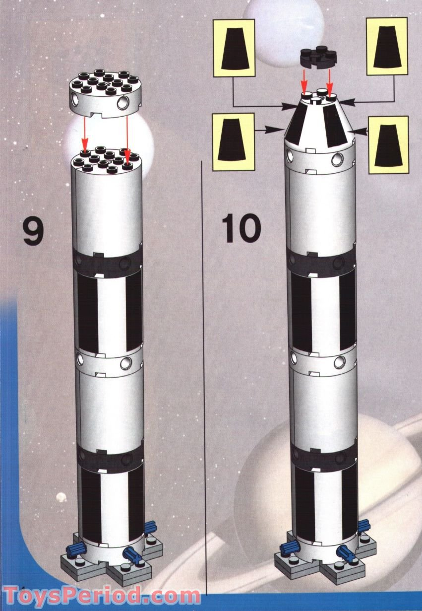 Used Saturn Parts >> LEGO 7468 Saturn V Moon Mission Set Parts Inventory and ...