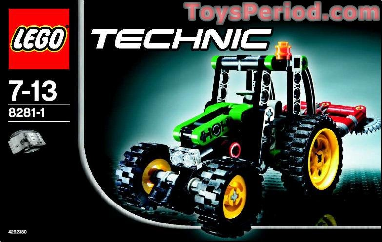 lego 8281 mini tractor set parts inventory and. Black Bedroom Furniture Sets. Home Design Ideas