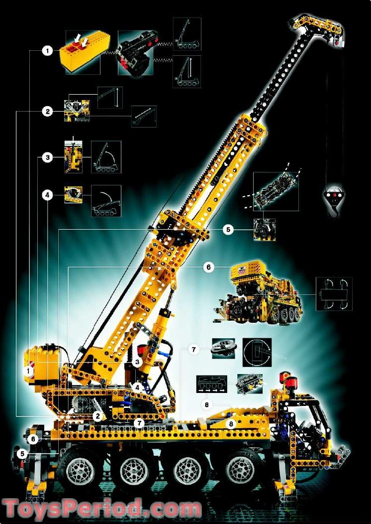 Lego 8421 Mobile Crane Set Parts Inventory And
