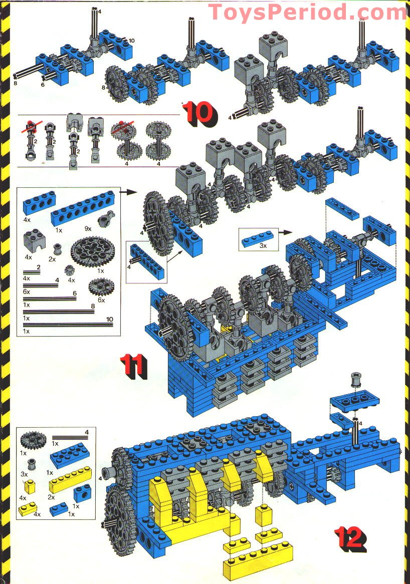 Lego 853 Auto Chassis Set Parts Inventory And Instructions Lego